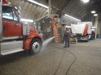 Learning how to wash a truck properly